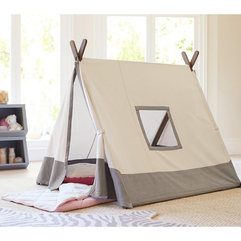 free love square design grey color kids play tent indian teepee rh aliexpress com Teepee Tent SVG Teepee Tents for Camping