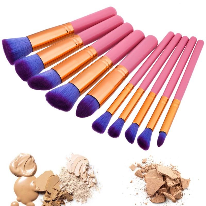 2017 Superior Professional  Cosmetic Make up Brush Set Woman's Toiletry Kit Soft Beauty Makeup Brushes  Blush Brush borstels professional bullet style cosmetic make up foundation soft brush golden white