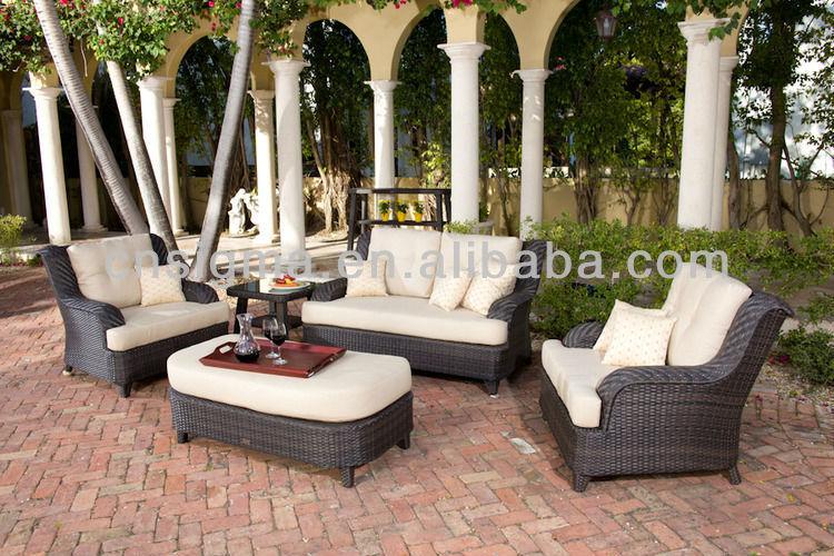 Superior 2017 Miami Furniture Wicker Balcony Furniture Diwan Comfortable Sofa  Set(China (Mainland))