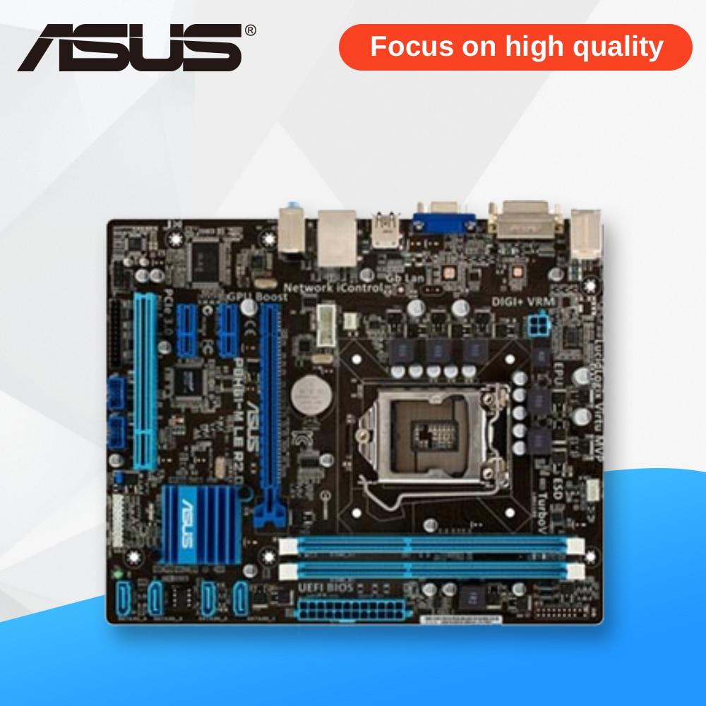 Asus P8H61-M LE R2.0 Desktop Motherboard H61 Socket LGA 1155 i3 i5 i7 DDR3 16G Micro-ATX On Sale цена