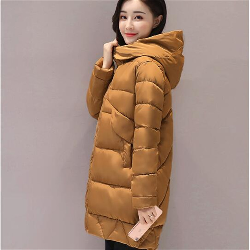 Thick Winter Jacket Women Warm Padded Coat Female Solid Color Loose Large Size Cotton Autumn Parka 2017 winter jacket women hoodie loose parka thick warm thicken outerwear coat short cotton padded autumn basic jacket m 2xl