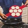 Antiadherente de huevo de silicona molde de anillo de Pancake Maker redondo molde de panqueques huevo herramientas Breasfast de cocina Gadgets
