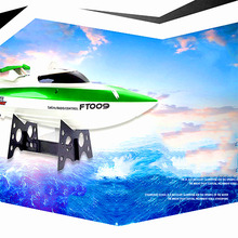 Hot Venda 4CH Feilun FT009 2.4G 30 KM/H Elétrica da Água de Arrefecimento Corridas de alta Velocidade RC Barco De Controle Remoto Lancha RTR VS UDI001