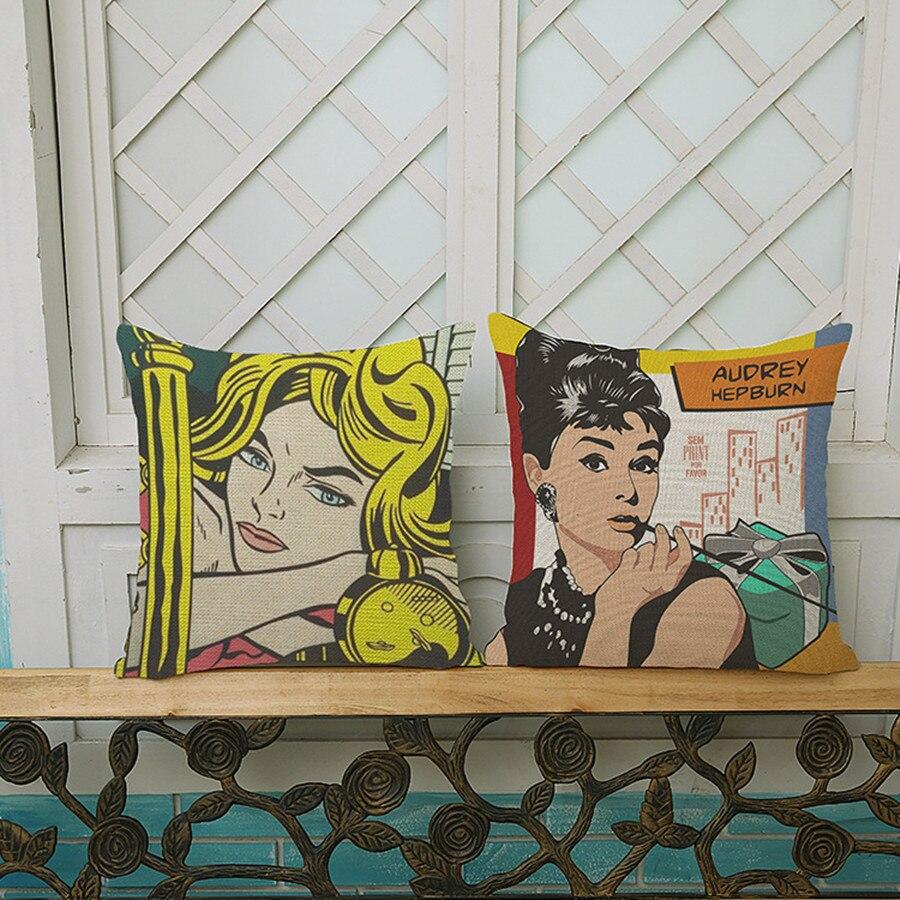 audrey hepburn chaplin marilyn monroe pop art portrait style linge