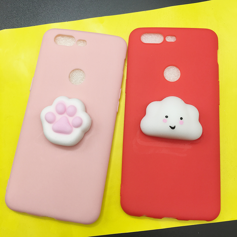 Squishy Cat Soft Phone Case for OnePlus 5 Cute Case for Oneplus 5t Candy TPU 3D Doll Phone Accessories Capa NEW For oneplus 5 t