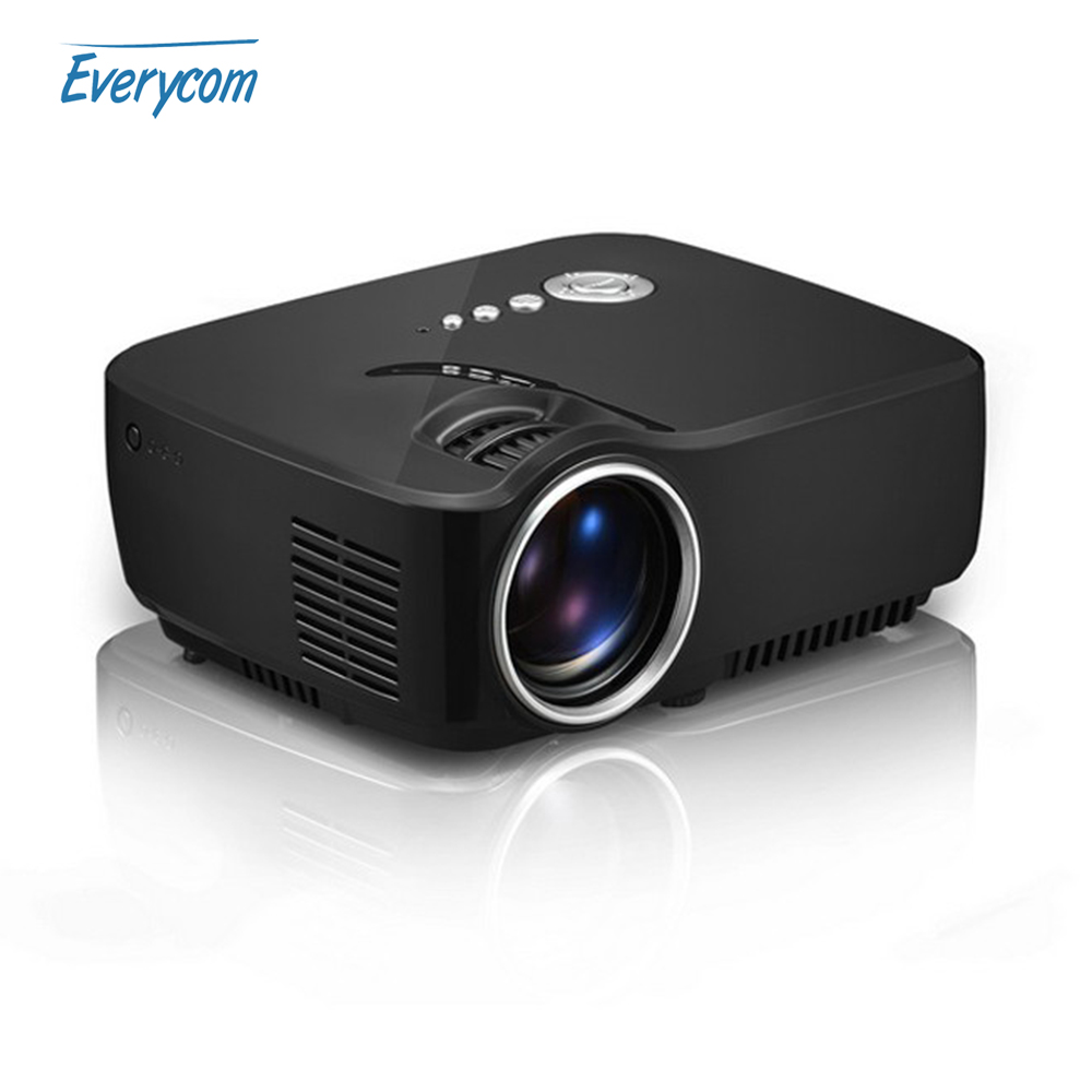 2016 new arrival mini portable g90 projector full hd home for Hd projector small