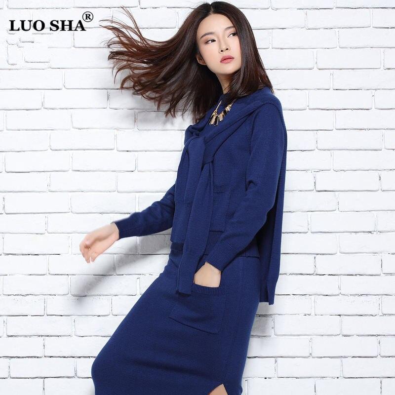 Sweatsuit Sha khaki Luo Poncho black Pull 3 Set Chandail Femmes Jupe Survêtement Navy Femelle Costume gray Vêtements Pièces ensemble Blue UqwCdqP