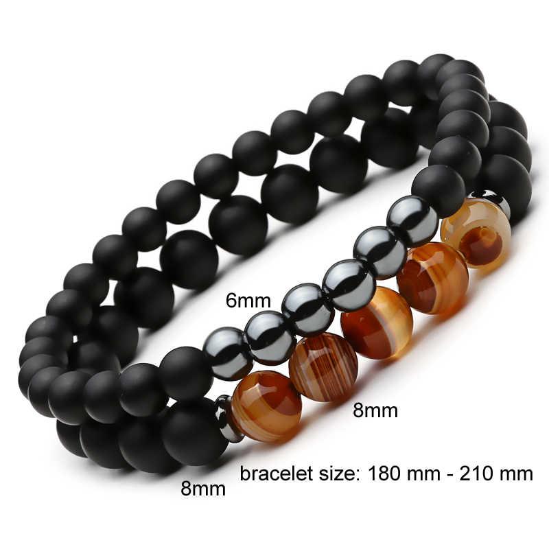 0f9f58edb13f ... Mcllroy 2Pcs bracelet men Lucky Fashion bracelet Natural Stone Beads  Bracelet for Women ...