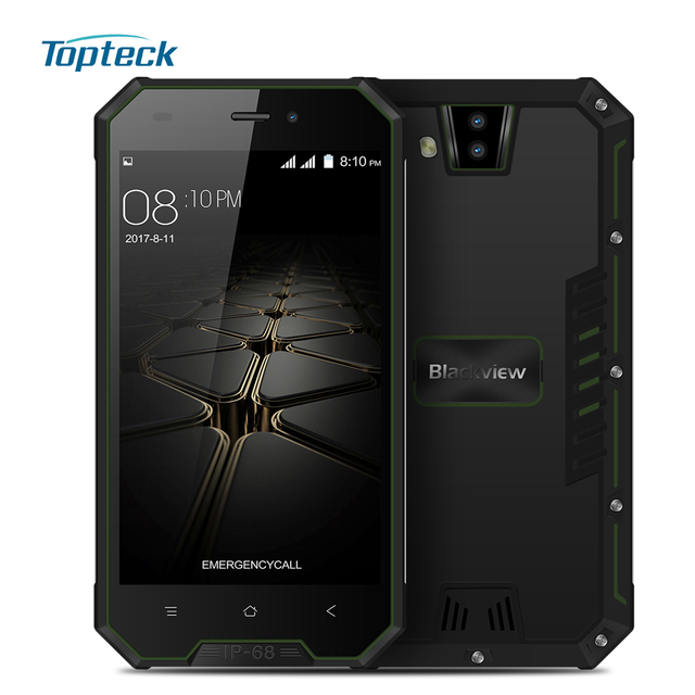 Blackview BV4000 Pro Tri-proof Smartphone 4.7 Inch MTK6580A Quad Core 2GB+16GB Android 7.0 2.0MP+8.0MP Camera IP68 Mobile Phone