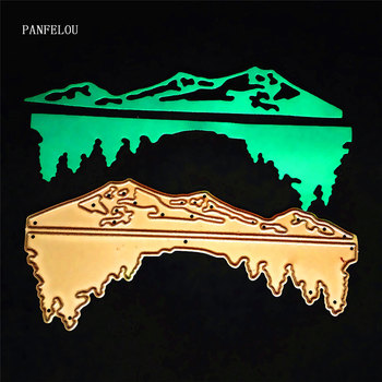 PANFELOU Metal craft Canyon peaks paper die cutting dies for Scrapbooking/DIY Easter wedding Halloween cards image