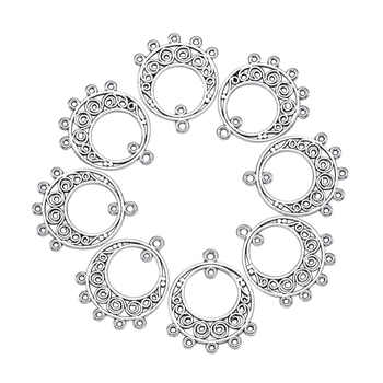 Pandahall 200pcs 24x20x1mm Hollow Dangle Chandelier Component Link Connector Necklace Dangle Earring Jewelry Making Findings - DISCOUNT ITEM  22% OFF All Category