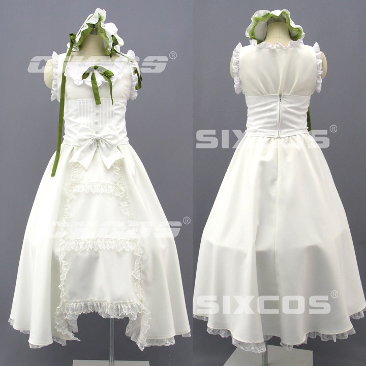 Game Anime Clair Vaux Bernardus Cosplay Costume Halloween Uniform White Party Dress Custom Any Size Free Shipping