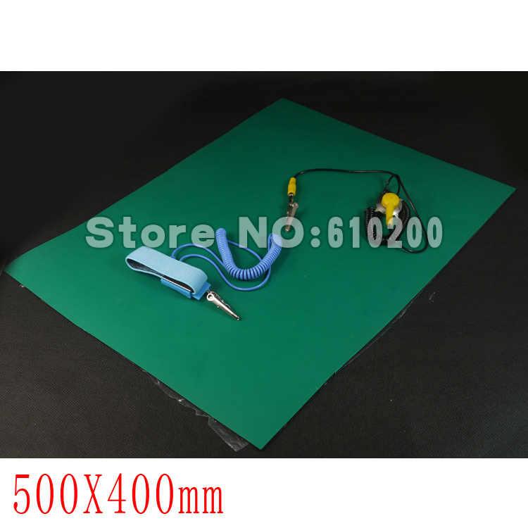 Антистатический Настольный коврик ESD для обслуживания платформы, поддерживающий изоляционный коврик + заземляющий провод + ESD наручный serap 500 мм * 400 мм * 2 мм