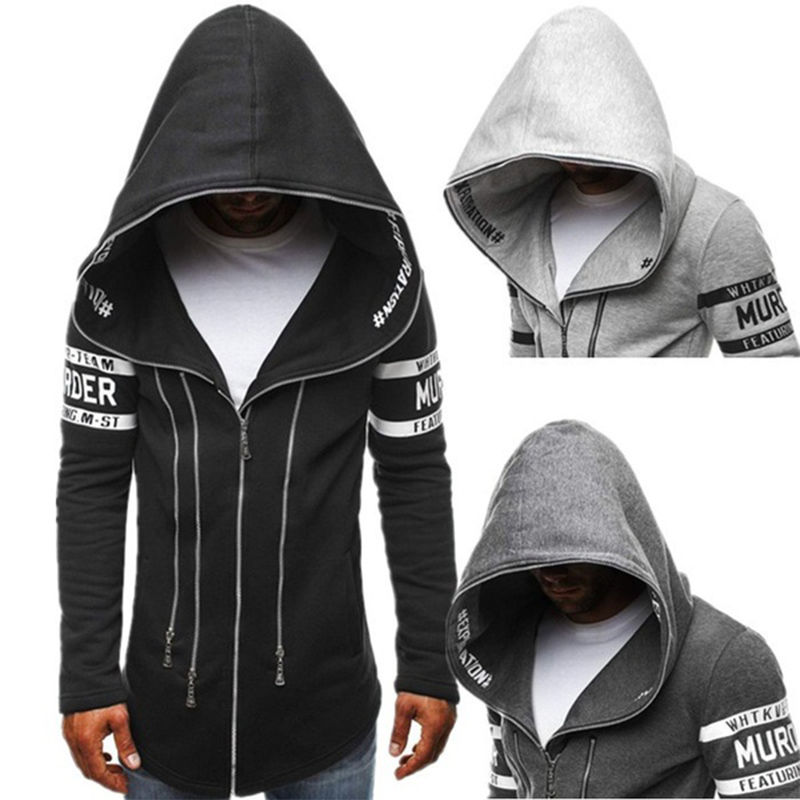 New Personality Coat Casual Fashion Long Sleeve Hooded Men Zipper Hoodies Plus Size XS 4XL Hoodies Men Casual Sweatshirts Hoody in Hoodies amp Sweatshirts from Men 39 s Clothing