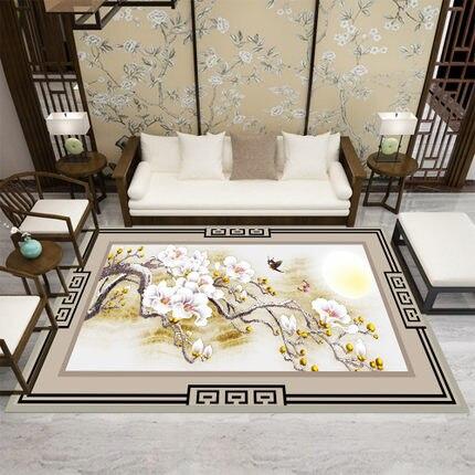 Traditionnel chinois moderne salon 3D tapis chambre chevet rectangulaire tapis canapé Table basse tapis étude chambre accessoire maison