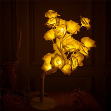 LED Rose Flower Wreath String Lights Fairy Wedding Party Decoration led garland light chain night light  Flexible baby girl lamp