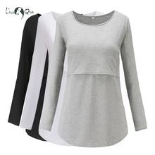 Комплект из 3 предметов; топы для беременных; блузка для кормления грудью с длинными рукавами; женский топ; одежда для мамы; Футболка для беременных; Premaman