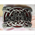 Led Zeppelin metal music belt buckles unique Silver belt buckle Retail company wholesale Western Turbo Nos Tunning Belt Clothing