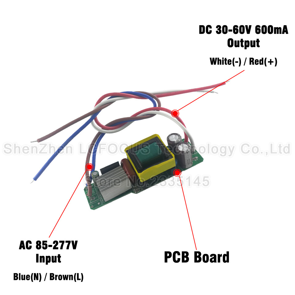 5pcs Led Driver Output Dc 30 60v Current 600ma 10 183w Lighting White Circuit Diagram Hi Watt Transformer For 30w 36w 45w 48w 54w Spotlights Bulb In Transformers From Lights
