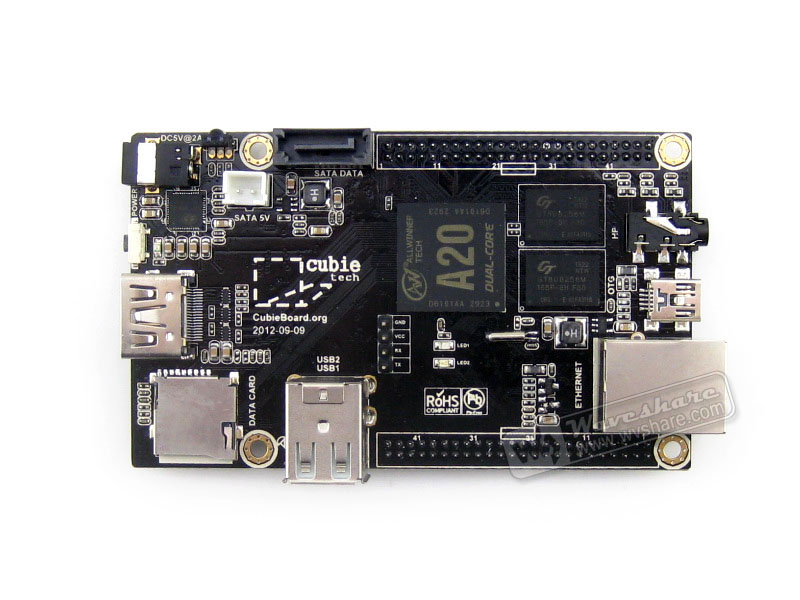ФОТО Cubieboard2 Cubieboard A20 Dual-Core mini PCubieboard 2 upgrade Version Development Board Super than Raspberry Pi Free Shipping