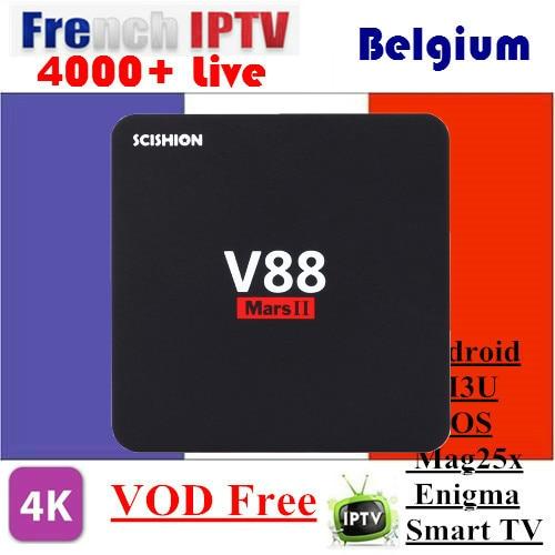 V88 Mars Mini 2G/8G 2G/16G Android TV Box with 1 Year SUNATV configured Arabic IPTV Europe iptv French Set top box smart box a95x pro voice control with 1 year italy iptv box 2g 16g italy iptv epg 4000 live vod configured europe albania ex yu xxx