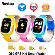 Q90 GPS Child Smart Watch Phone Children Watch 1.22 inch Color Touch Screen GPS WIFI SOS Baby Smartwatch For Kid(China)