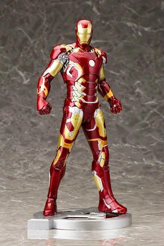 Marvel Iron Man Mark XLIII 43 1 6 Scale Pre painted Model Kit with LED Light