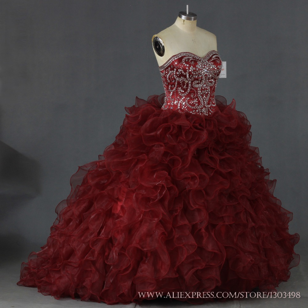 245 75 16 >> Maroon Quinceanera Dresses 2017 Sweep Train Tiered ...