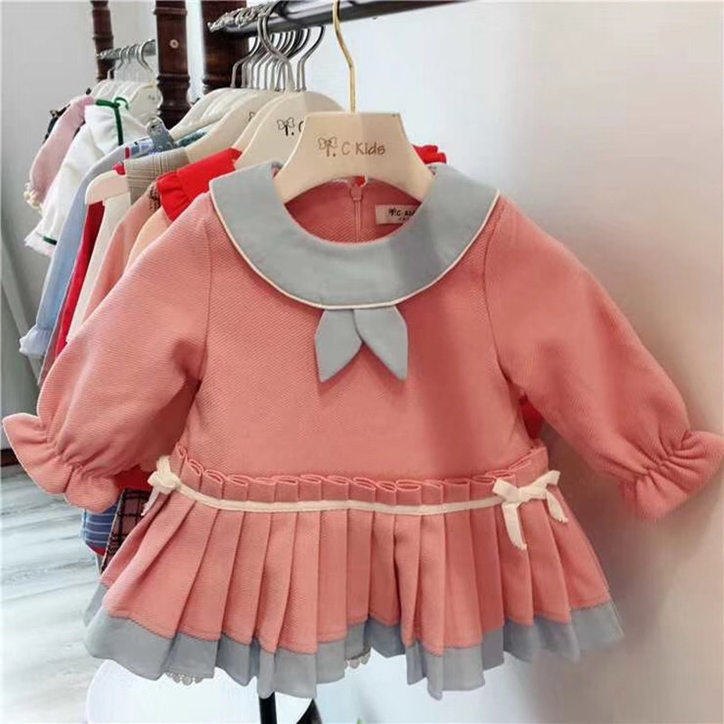Sweet baby girls dress toddler autumn winter dress 2018 Autumn Winter Toddler Girl Dresses Kids Clothes girls hello kitty happy birthday t shirts 2017 brand cartoon toddler girl dresses spring autumn girl dress