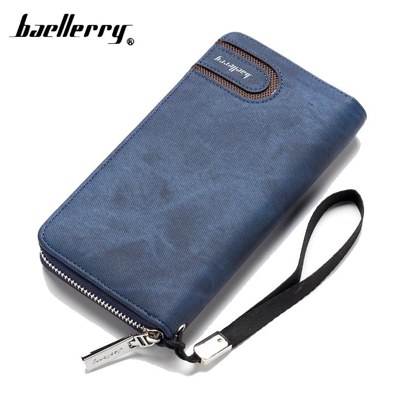 Men Genuine Leather Clutch Bag Cell Phone Purse Money Cards Clip Wrist Wallet