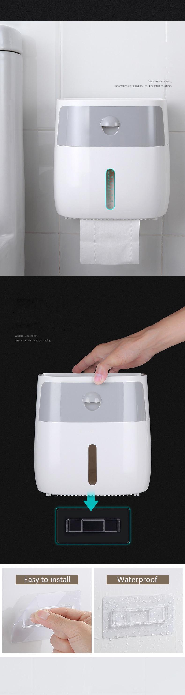 plástico de banho titular de papel higiénico caixa de armazenamento