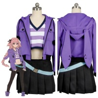 Fate Grand Order FGO Apocrypha Cosplay Costume FA Rider Astolfo Cosplay Costume Casual Suit Coat