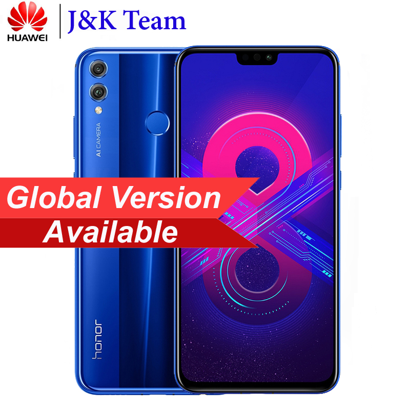 Huawei Honor 8x Global Rom Mobilephone 6.5 Inch Screen 3750mah Battery Dual Back 20mp Camera Multiple Language Smartphone