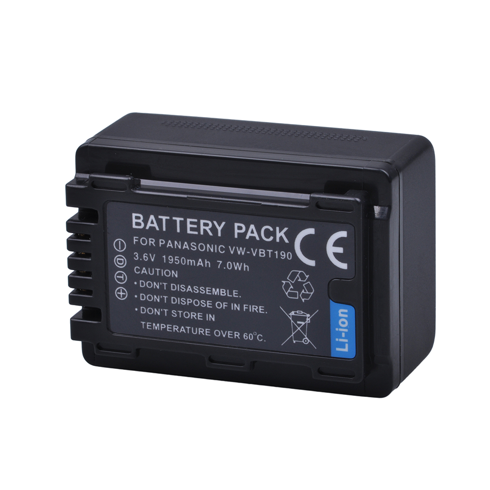 1pc 1950mAH VW-VBT190 VW VBT190 Li-ion Battery For Panasonic HC-V110 HC-V130 HC-V160 HC-V180 HC-V201 HC-V210 HC-V230 HC-V250