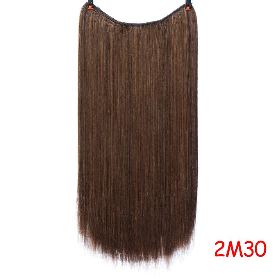 """SHANGKE 2"""" флип-на проволоке в синтетическом скрытом невидимом не клип в головном повязке прямые высокотемпературные волокна для наращивания волос - Цвет: #3"""