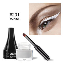 US $0.53 40% OFF|PHOERA 10Colors Matte Eyeliner Gel Waterproof Beauty Comestics Lasting White Eye Liner Cream Tool For Eyeshadow With Brush TSLM2-in Eyeliner from Beauty & Health on AliExpress