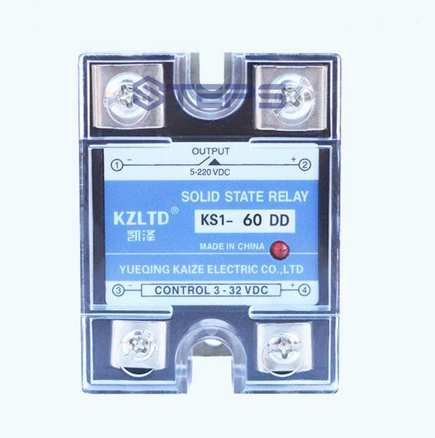 60A DC solid state relay DC to DC heating solenoid valve SSR solid