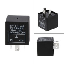 Baru 3-Pin Adjustable CF14 JL-02 LED Flasher Relay Fix Sein Hyper Flash Masalah(China)