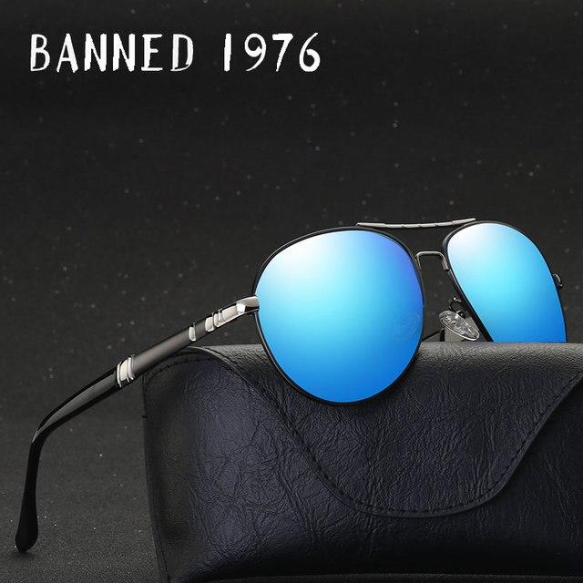 c2ef3c4cb0 BANNED 1976 Aluminum Magnesium Driving Sun Glasses Men s Classic Brand  SunglassesBrand Designer Polarized Sunglasses