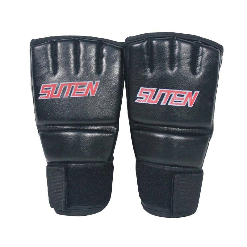 Pu Leather MMA Muay Thai Training Punching Bag Mitts Sparring Boxing Gloves Gym BHD2