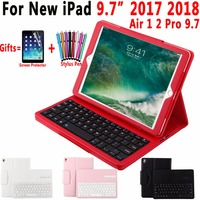 Blueteeth Keyboard Case For Apple New IPad 9 7 2017 Leather Folio Stand Bluetooth Keyboard Cover