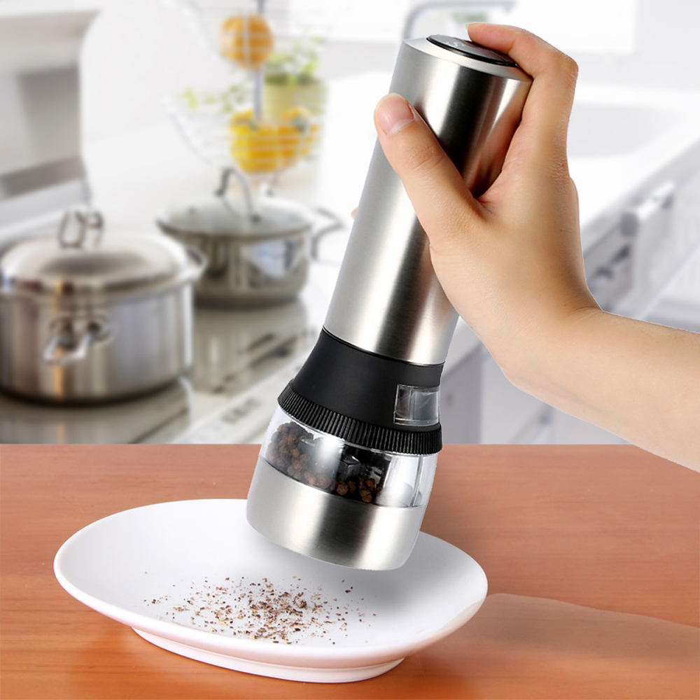 Aliexpress.com : Buy 2 In1 Stainless Steel Black Pepper Grinder Kitchen  Tools Portable Electric Grinding Salt And Pepper Grinder Electric Tools  From ...