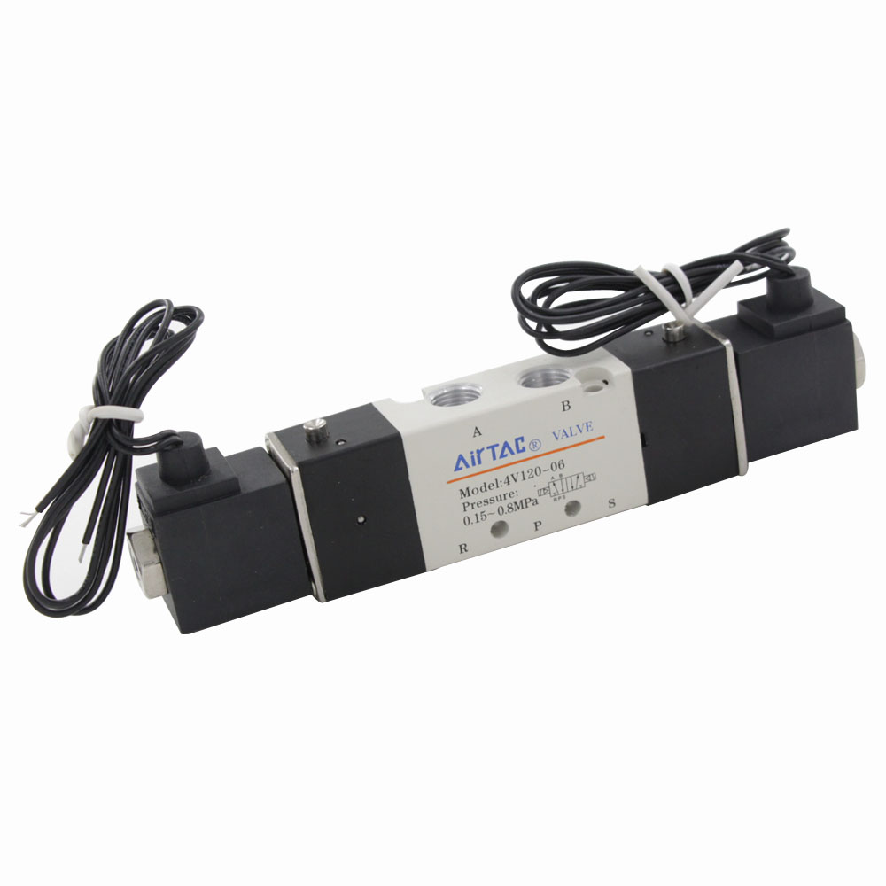 Electronic Component 4V120-06 Inner Guide 2 Position 5 Ways Pneumatic Solenoid Air Control Valve AC 110V dc24v inner guide type 2 position 3 way solenoid valve