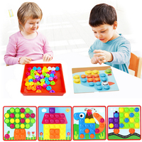 Free Shipping Genuine Creative 3D Mushroom Nail Kit Puzzle Toy For Children Composite Picture Puzzle Mosaic