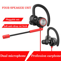 In Ear Airpods Stereo Ear Hook Gamer Headphone Earphone Earbuds With Mic Wired Gaming Headset Headphones