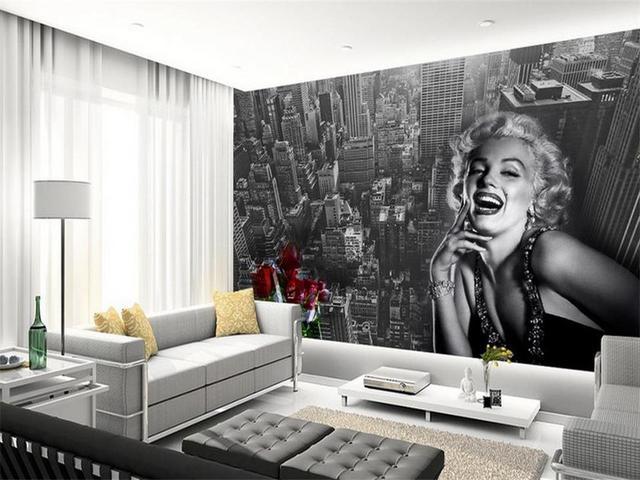 3d wallpaper foto wallpaper murale personalizzato soggiorno New York ...