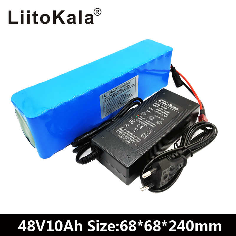 LiitoKala e-bike battery 48v 10ah li ion battery pack bike conversion kit bafang 1000w and charger