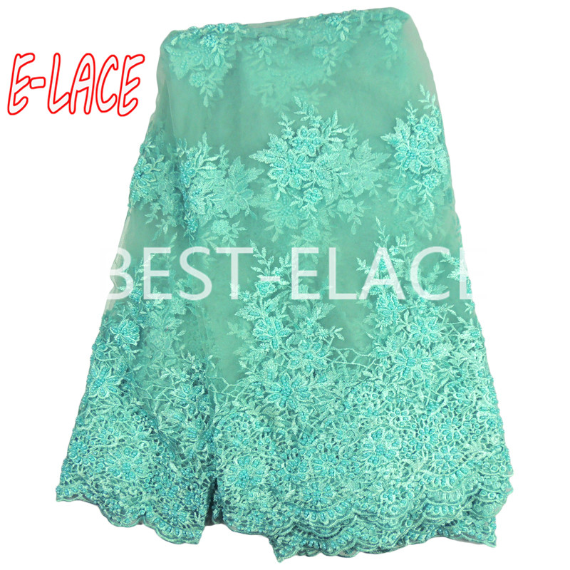 E-LACE SHOP African Lace Fabric Cotton Swiss Voile Lace High Quality 2017 New Arrivals Nigerian Bridal  lace fabric 1613b0990d50