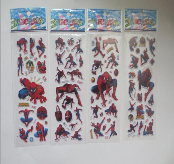 Mix 10sheets/set Bubble Stickers Spider Man 3d Cartoon Stickers Classic Action Figure Toys For Kids Rooms Children Gift Be Shrewd In Money Matters Toys & Hobbies