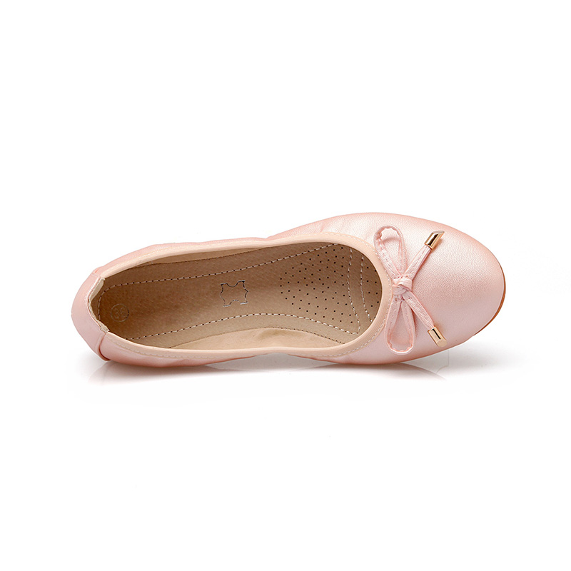 Women Foldable Ballet Flats Portable Travel Fold up Shoes Woman Round Toe  Bowknot Slip On Casual Shoes for Spring Autumn WSH2477-in Women s Flats  from Shoes ... 896ba3aa433d